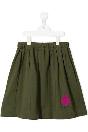 Marni Girls Printed Skirts - Logo-print pleated skirt - 0M510