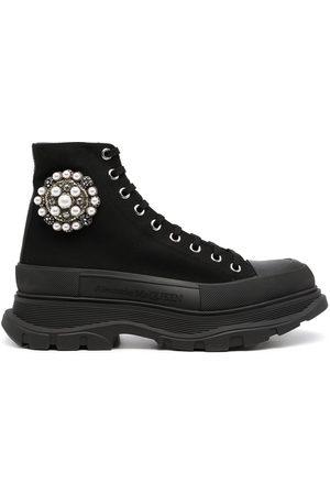 Alexander McQueen Embellished Tread Slick boots