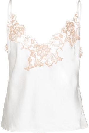 Kiki de Montparnasse Lace camisole silk top