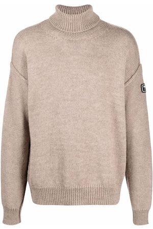 Palm Angels Sweatshirts - PXP palm patch jumper - Neutrals
