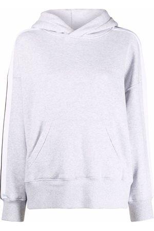 Palm Angels Drop-shoulder track hoodie - Grey