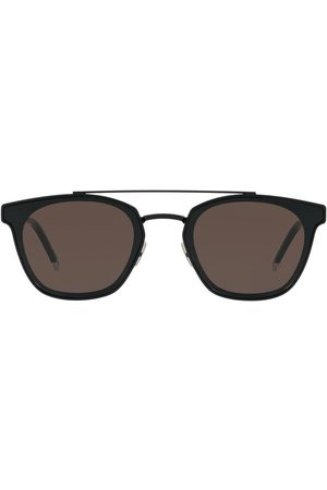 Saint Laurent Eyewear Double-bridge round sunglasses