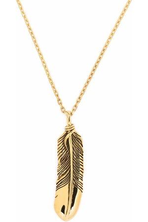 AMBUSH Feather-pendant necklace