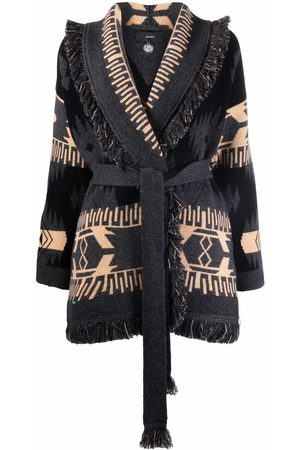 Alanui Jacquard-pattern cardi-coat