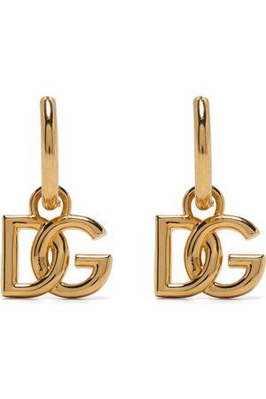 Dolce & Gabbana Logo-plaque hoop earrings