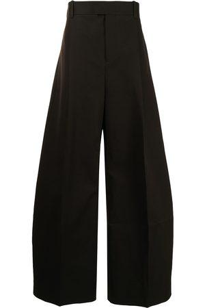 Bottega Veneta Triangle detail wide-leg trousers