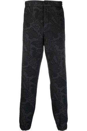 Etro Men Sweatpants - Paisley-pattern track trousers - Grey