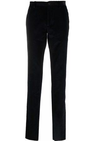 Etro Men Skinny Pants - Paisley-print cotton velvet trousers