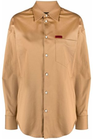 Dsquared2 Logo patch long-sleeved shirt