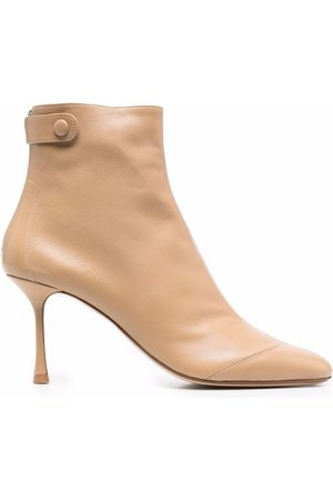 Francesco Russo Round-toe ankle boots - Neutrals
