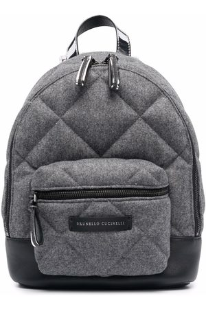 Brunello Cucinelli Quilted backpack - Grey