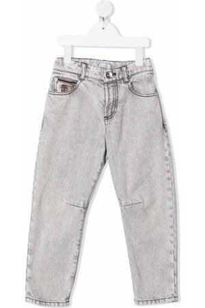 Brunello Cucinelli Slim-fit washed jeans - Grey