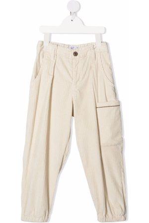 Brunello Cucinelli Patch-pocket straight trousers - Neutrals