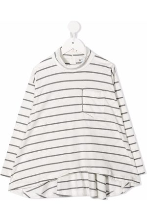 Brunello Cucinelli Striped cotton longsleeved top