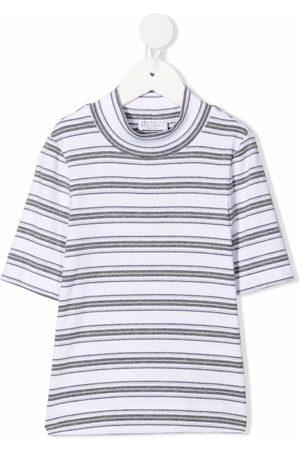 Brunello Cucinelli Stripe-pattern cotton T-shirt