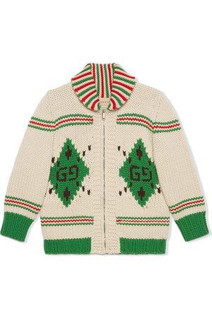 Gucci Argyle wool roll-neck jumper - Neutrals