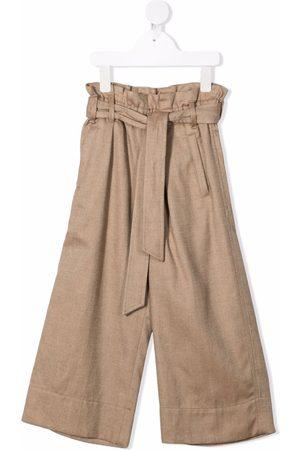 Brunello Cucinelli Belted straight trousers - Neutrals