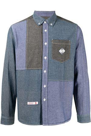 Izzue Patchwork long-sleeve denim shirt