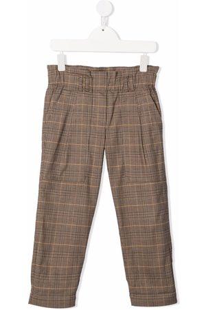 Brunello Cucinelli Kids Plaid-check straight trousers