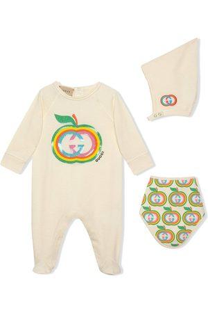Gucci Kids Interlocking G apple babygrow gift set