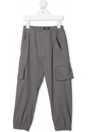 Il Gufo Elasticated cargo trousers - Grey