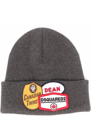 Dsquared2 Patch-detail beanie - Grey