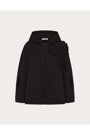 VALENTINO Rose Blossom Jersey Sweatshirt Women Cotton 100% L