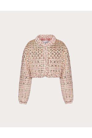 VALENTINO Women Jackets - Sensation Lurex Tweed Jacket Women Ivory/ 60% Virgin Wool 26% Acrylic 4% Polyester 38