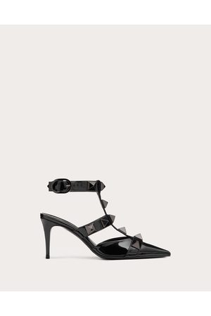 VALENTINO GARAVANI Women Heeled Pumps - Roman Stud Pump In Patent-leather And Tonal Studs 80mm Women 100% Pelle Di Vitello - Bos Taurus 36
