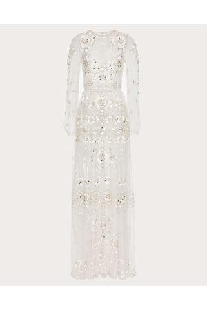 VALENTINO Women Evening dresses - Evening Dress In San Gallo Edition Organza Women Ivory Silk 100% 36