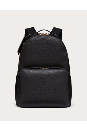 VALENTINO GARAVANI Men Rucksacks - Valentino Garavani Identity Leather Backpack Man 100% Pelle Di Vitello - Bos Taurus OneSize