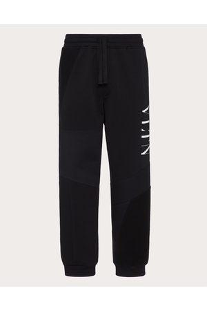 VALENTINO Men Pants - Cotton Patchwork Pants With Vltn Logo Man / Cotton 94% M