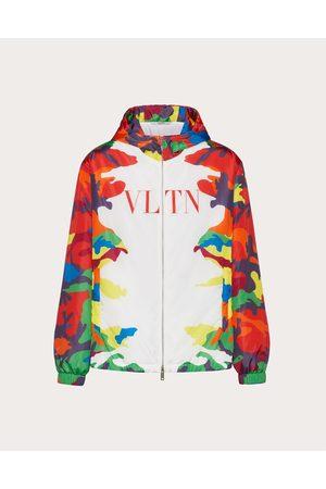 VALENTINO Men Sports Jackets - Nylon Windbreaker With Camou7 Print Man / 100% Poliammide 46