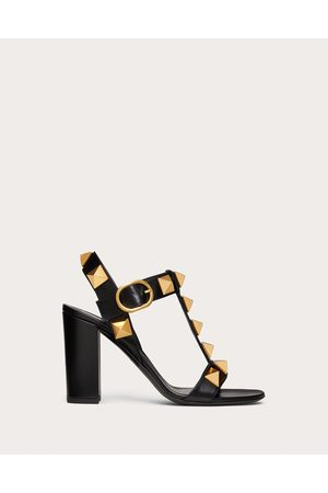 VALENTINO GARAVANI Women Heeled Sandals - Roman Stud Calfskin Sandal 90 Mm Women 100% Pelle Di Vitello - Bos Taurus 39