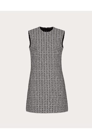 VALENTINO Women Dresses - Optical Bouclé Short Dress Women / Cotton 80% 36