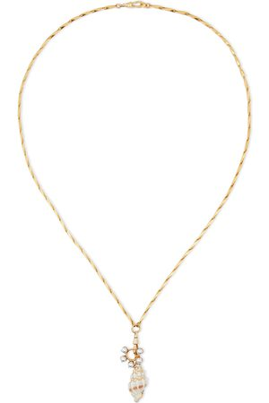 ELIZABETH COLE Women Necklaces - Woman 24-karat -plated Shell And Faux Pearl Necklace Size