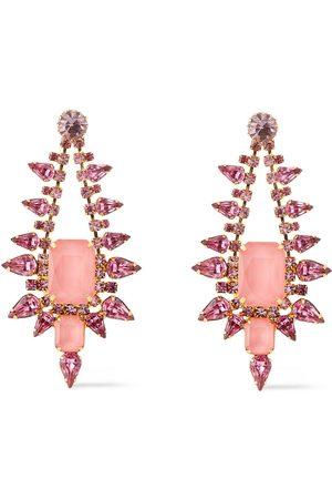 ELIZABETH COLE Woman 24-karat Gold-plated Crystal Earrings Size