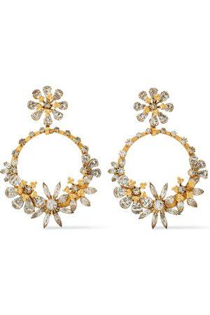 ELIZABETH COLE Woman 24-karat -plated Swarovski Crystal Earrings Size