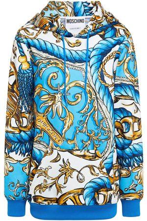 Moschino Women Hoodies - Woman Printed Jersey Hoodie Size 36