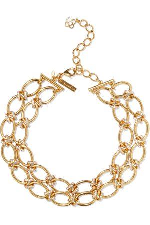Oscar de la Renta Woman -tone Crystal Necklace Size