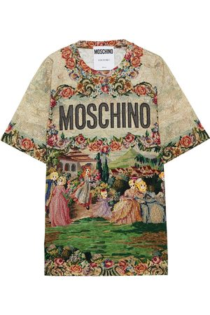 Moschino Women Short Sleeve - Woman Printed Cotton-jersey T-shirt Size L