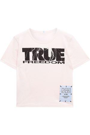 MCQ ALEXANDER MCQUEEN Women Short Sleeve - Woman Appliquéd Printed Cotton-jersey T-shirt Baby Size M