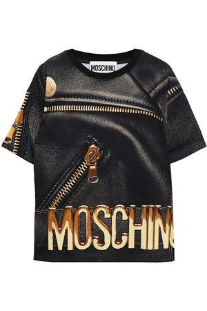 MOSCHINO Woman Printed Cotton-jersey T-shirt Size L