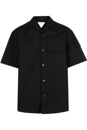 Bottega Veneta Men Short sleeves - Multiple-pocket short-sleeve shirt