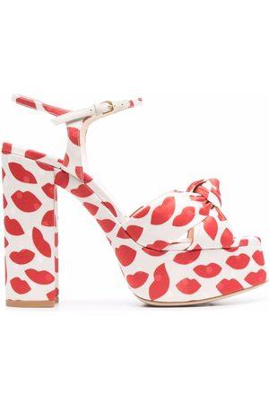 Saint Laurent Bianca lips-pattern sandals