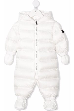 Moncler Bodysuits & All-In-Ones - Logo-patch padded babygrow