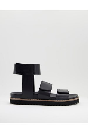 ASOS DESIGN Men Ankle Boots - Sandal with ankle strap in leather