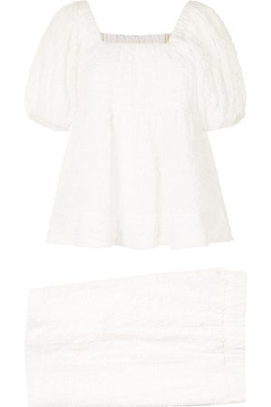 B+AB Square-neck puff-sleeves playsuit