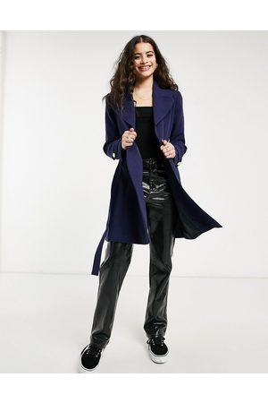 Oasis Women Coats - Light weight wrap coat in navy