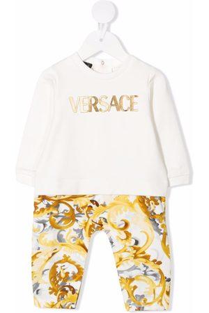 VERSACE Baroccoflage logo-print romper suit